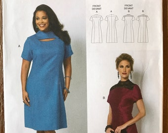 UNCUT Misses' Dress Sewing Pattern Butterick 5827 Size XS-XL Shift Dress, Casual Dress, Easy Dress, Work Dress, Party Dress, Connie Crawford