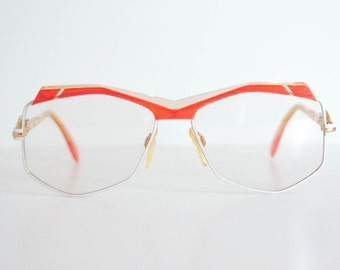 Cazal 230 Vintage. Red & White. 80s.