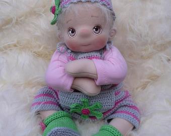 Wiesje, a Soft Cloth Baby Doll, Handmade and Waldorf Inspired