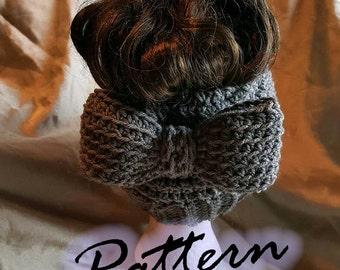 Messy Bun Hat w/ a Bow PDF Crochet Pattern