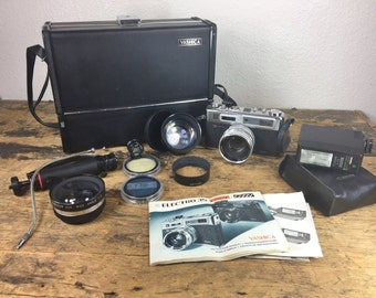 Yashica GSN Electro 35 Camera with Original Case and Accessories