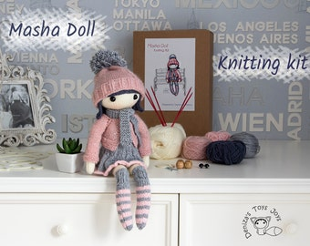 Masha Doll. Knitting Kit - Make Your Own Friend.