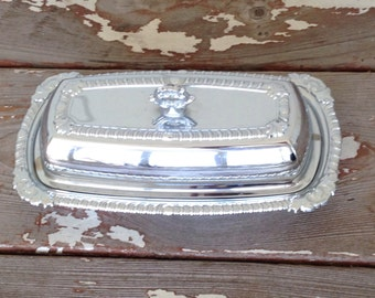 METAL BUTTER TRAY-Butter Tray With Lid,Butter Storage,Dining room Butter Tray,Butter,Holiday Butter Tray,Formal Butter Tray,Butter Plate