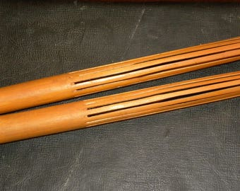 Vintage 1960s Pu'ili Hawaii Hula Kahiko Dance Split Bamboo Rattle