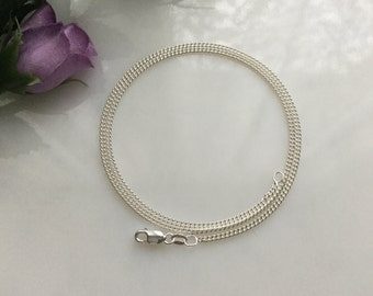 20 Inch Silver Filled Curb Chain Necklace, Jewelry Supply