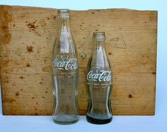 Vintage Italian Coca Cola bottles