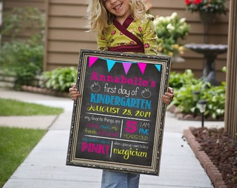 First Day of School Sign - First Day of Kindergarten Sign - First Day of PreSchool Sign - First Day of School Poster - First Day Photo Sign