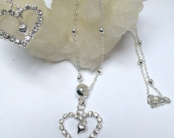 Diamante Hearts Set