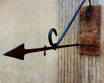 Antique Hand Wrought Forged Sign Bracket