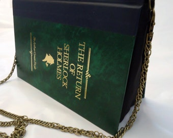 The Return of Sherlock Holmes Book Purse Green Bag Clutch - Upcycled Book