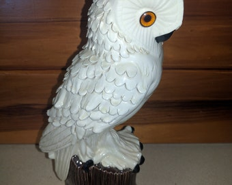 Very Cool White Textured 3D Owl Ceramic Figure Mold Home Decor