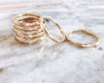 Ailani ring - thick gold rings, stack ring, stacking ring, stacking gold ring, ring band, wedding band, gold filled ring, hawaii jewelry