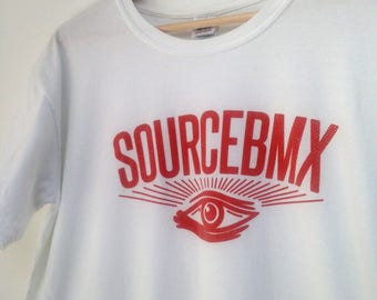 rad SourceBMX Skate Wear tshirt White skateboard bmx street wear L