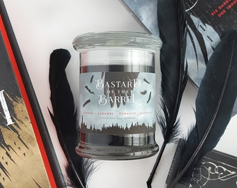 Bastard of The Barrel // Six of Crows 8oz Jar Candle — Scented Soy Candle