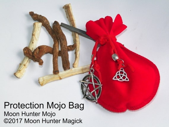 Protection Mojo Bag Moon Hunter Mojo Hand Made
