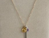 Mixed Metals Charm Pendan...