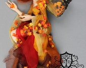 OOAK Art Doll Sculpture - Autumn 2016 - Fairy Faun by Ksheyna Nightswood