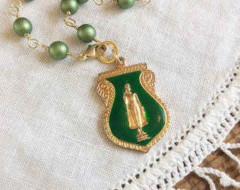 Green Buddha Necklace - green necklace buddhist necklace protection amulet