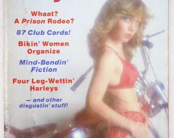 Vintage Easyriders Magazine w/ David Mann Poster February 1981 #92 (mature)