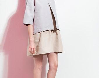 Oversized Linen Jacket / Short Linen Coat / Grey Linen Coat / Handcrafted Kimono Coat / Loose Linen Blazer / Minimal Coat