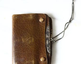 Edwardian leather wallet  // J.C. Vickery wallet // antique wallet