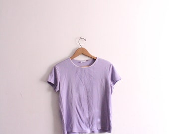 Pastel Lilac 90s Ribbed Tee