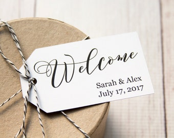 Welcome Tag - Event Tags - Wedding Welcome Tags - Welcome Gifts - Welcome Gift Tags - Welcome Bags - Custom Tags - Personalized Tags
