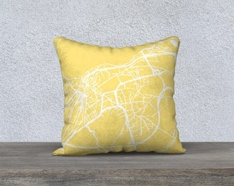 Interlaken Map Pillow Cover