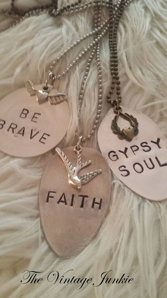 Long, Layering Inspirational Spoon Necklace