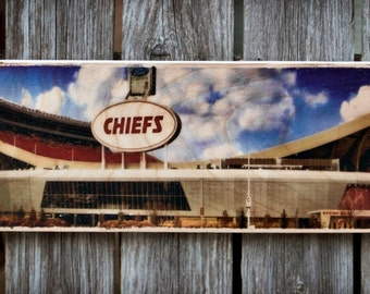 "5""x16"" Photo Transferred onto Wood ""Chiefs"" (Free Shipping)"