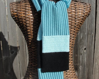 Upcycled Cashmere Striped Scarf