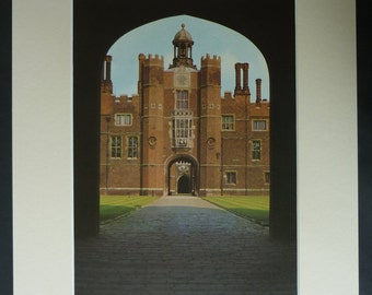 Hampton Court Palace Print, Tudor Architecture Decor, Available Framed, Baroque Art, Architectural Picture, Richmond Upon Thames Photography