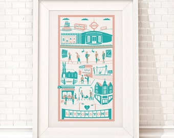 Leytonstone print / London illustration