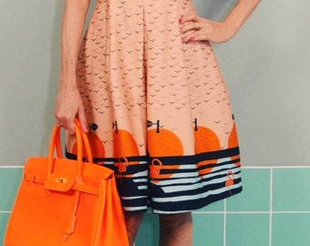 Daisykleid SINKING ORANGE dress sundress pool