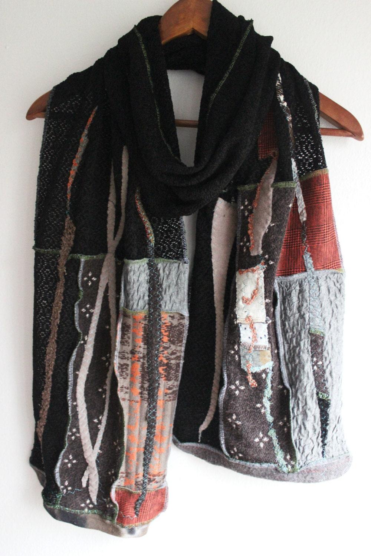 black scarf unique scarf shawl