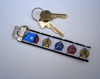 Keychain, keyfob, Star Trek ,Spock ,Enterprise ,handmade