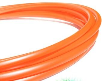 """5/8"""" UV Tigerlily Metallic Orange Polypro Hula Hoop"""