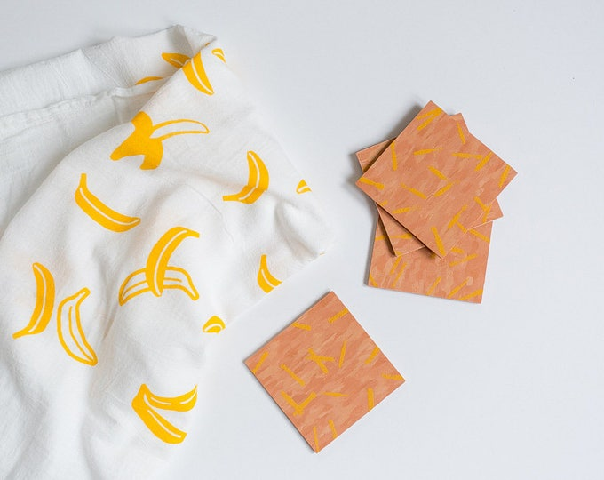 NEW - Banana Print - Tea Towel
