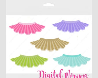 Sweet Tutu Clipart Set, Boutique Tutu Graphics, Personal & Commercial Use, Instant Download!