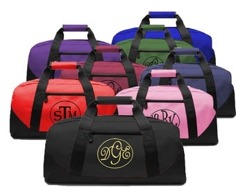 Personalized Initials Canvas Duffel Bag