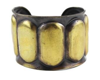 Wide Brass Cuff Bracelet, Wide Brass Bracelet, Wide Cuff Bracelet, Brass Oval Bracelet, Wide Gold Cuff Bracelet