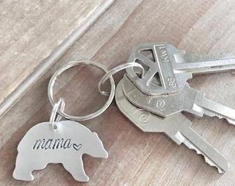 Mama Bear Keychain - Mom Gift - Baby Shower Gift