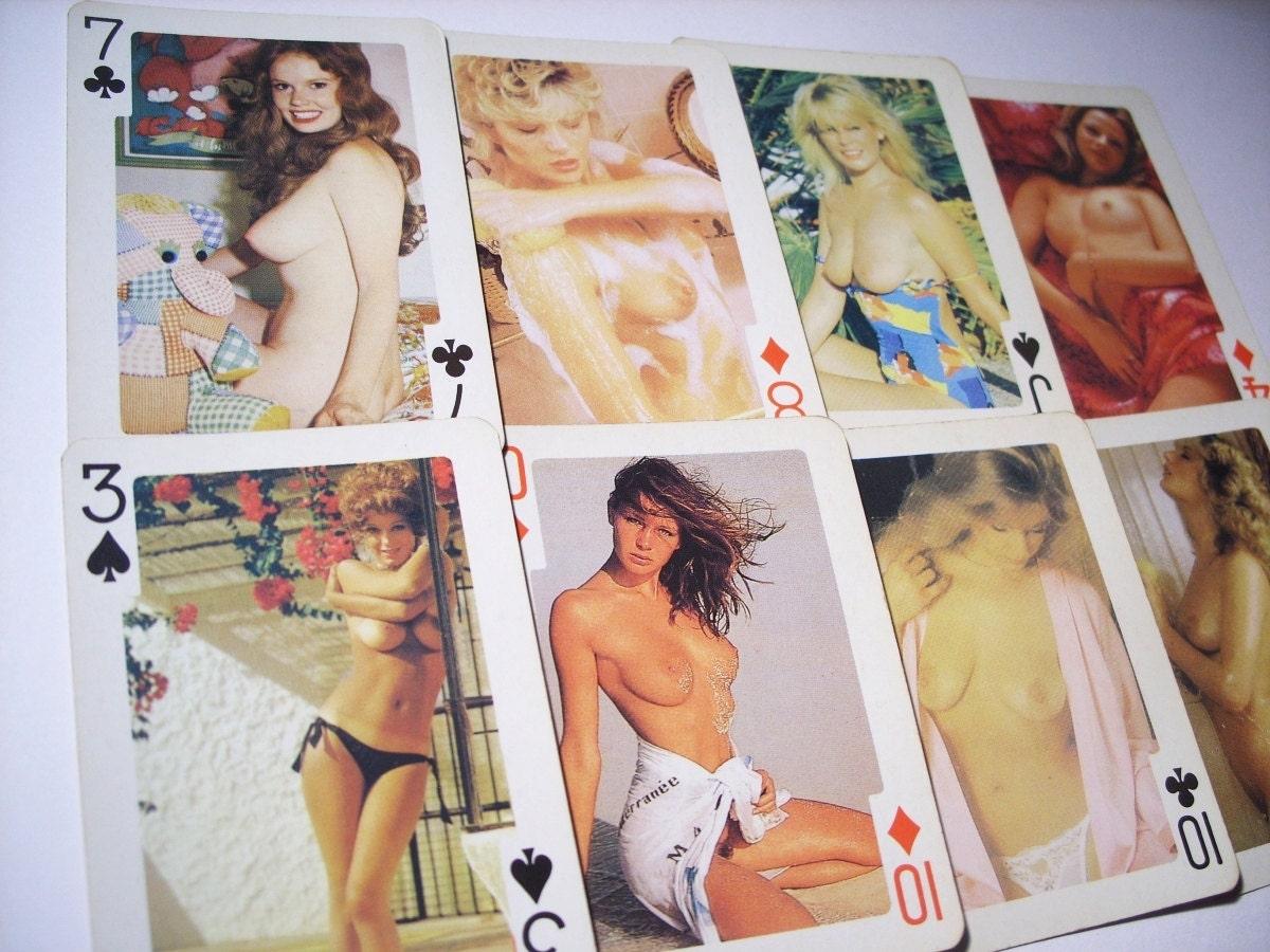 vintage old mature naked nude sex cards vagina nude girls erotic set of cards nude erotica mature romance  vintage erotica paper ephemera 80s