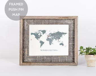Push Pin Travel Map Rustic Home Decor Travel Gift Home Living