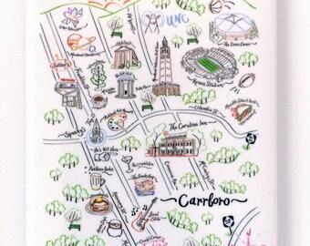 Chapel Hill Map Magnet