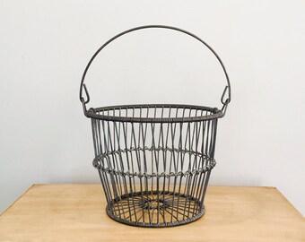 Vintage Industrial Metal Wire Basket