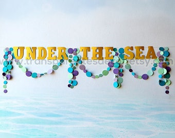 Under the Sea party decorations, Mermaid party decorations, Under the Sea banner, Mermaid garland, Mermaid birthday, Banner, PNAB-108