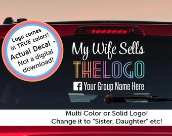 Custom car car decal,  My Wife Sells , Custom Solid Color Car Decal, HOME OFFICE Approved, Car Decal, , leggings