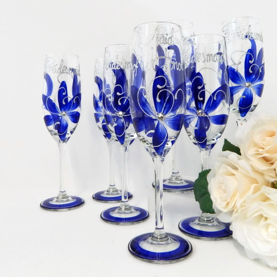 Wedding Gifts For Bride Something Blue : Something Blue 8 Bridesmaid Gifts Bridal Party Gift Sapphire Blue ...