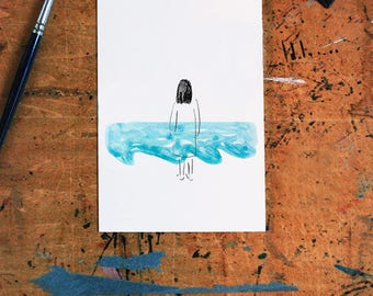 Woman by the Sea card | A6